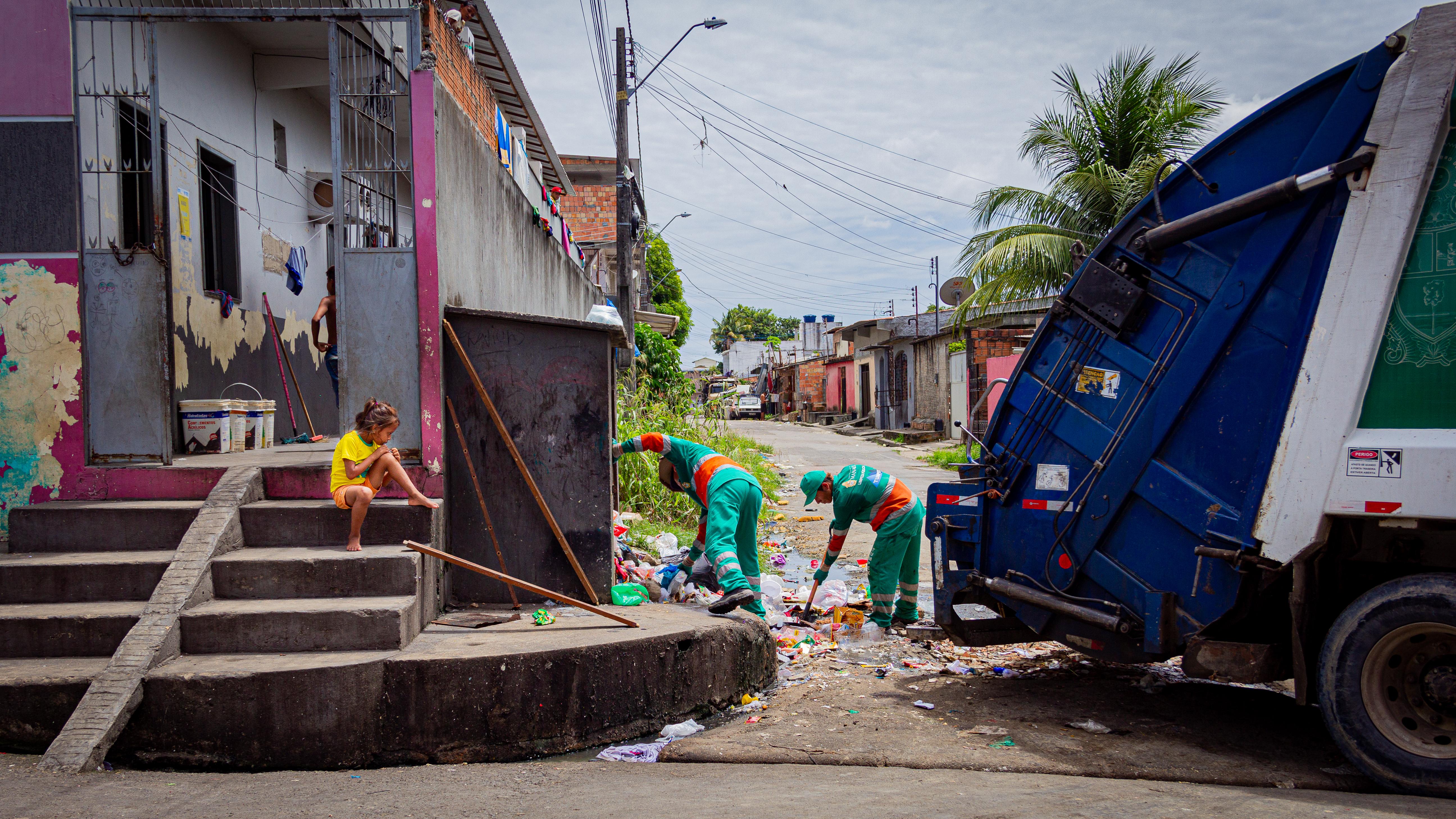 Shelter facade for Warao Indigenous Venezuelans, Boa Vista