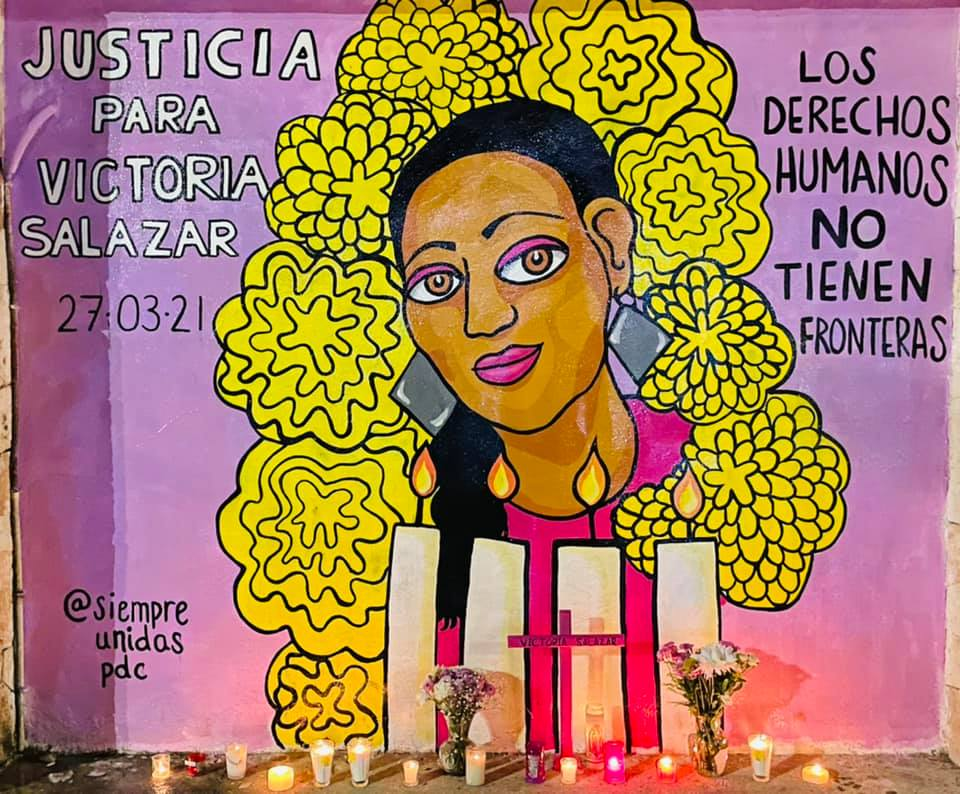 Police brutally killed Victoria Salazar: how are feminists representing her death in a dignified way?