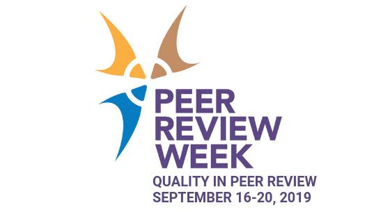 Logo for Peer Review Week 2019
