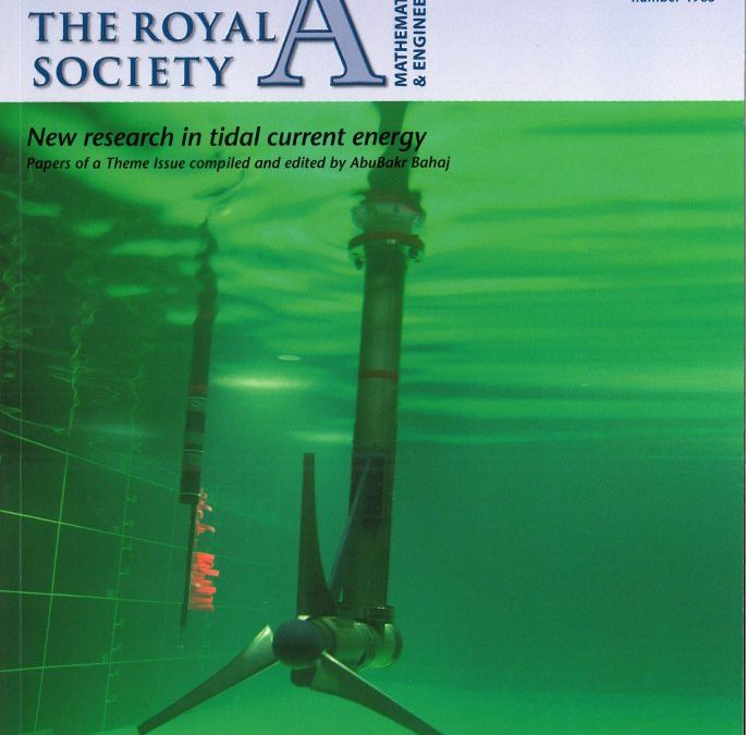 'Tidal Current Energy' special issue of the Royal Society's Philosophical Transactions A