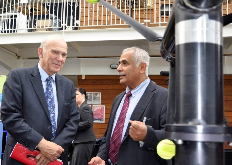 Prof Bahaj meets UK's BIS Secretary of State Dr Vince Cable