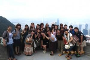 The girls on Hong Kong trip