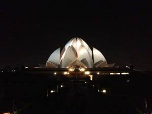 The Lotus Temple, Delhi.