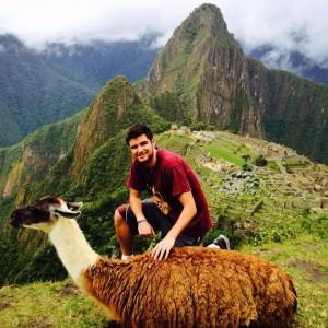 Llama, me and Machu Picchu.
