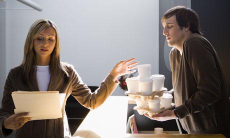 Copytight: Guardian.co.uk- intern serves coffee